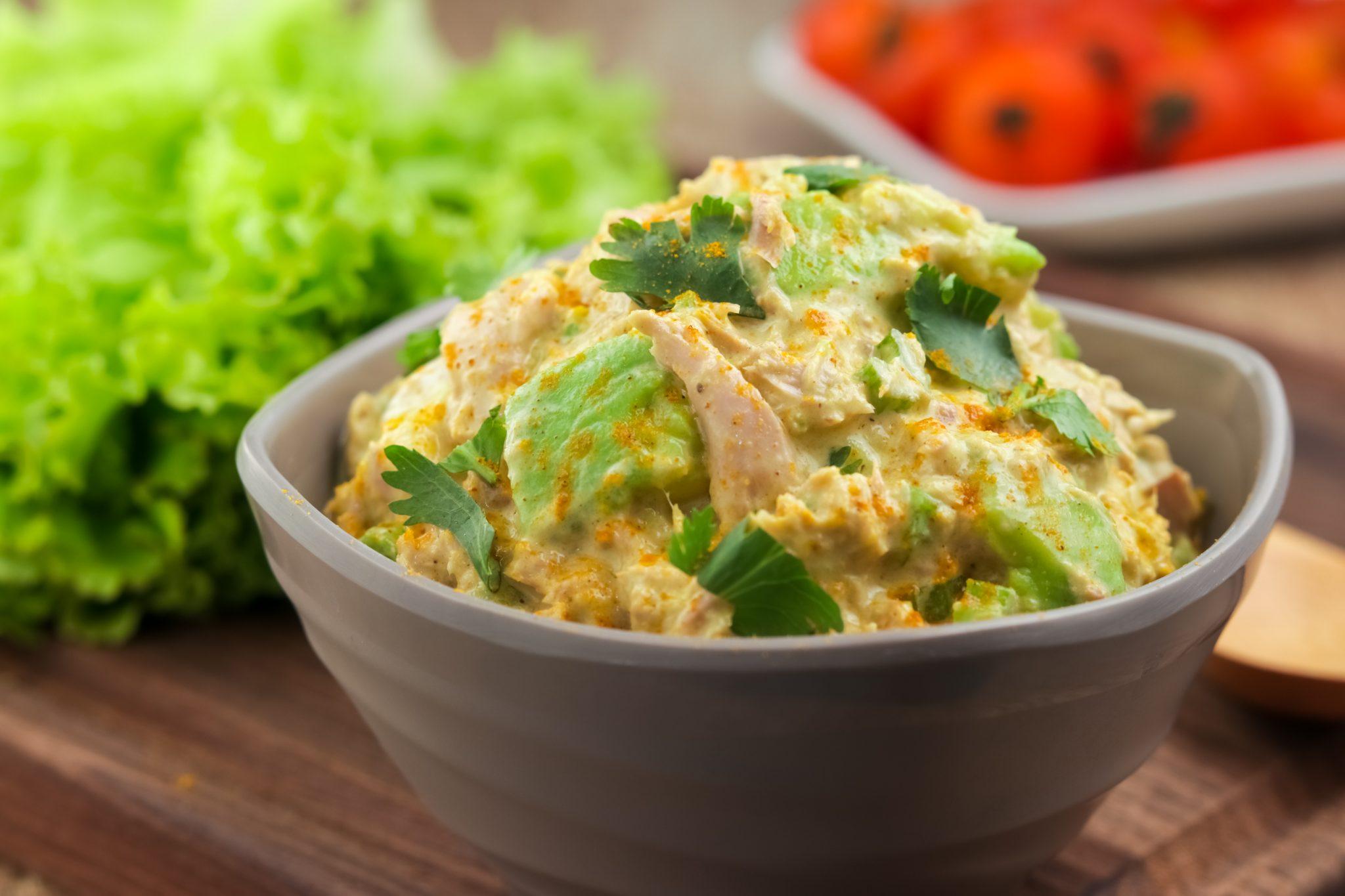 Ketogenic Recipes: Keto Curry Spiked Tuna and Avocado Salad