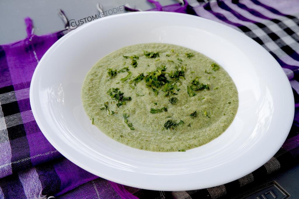 keto diet recipes - 3 Keto super green soup