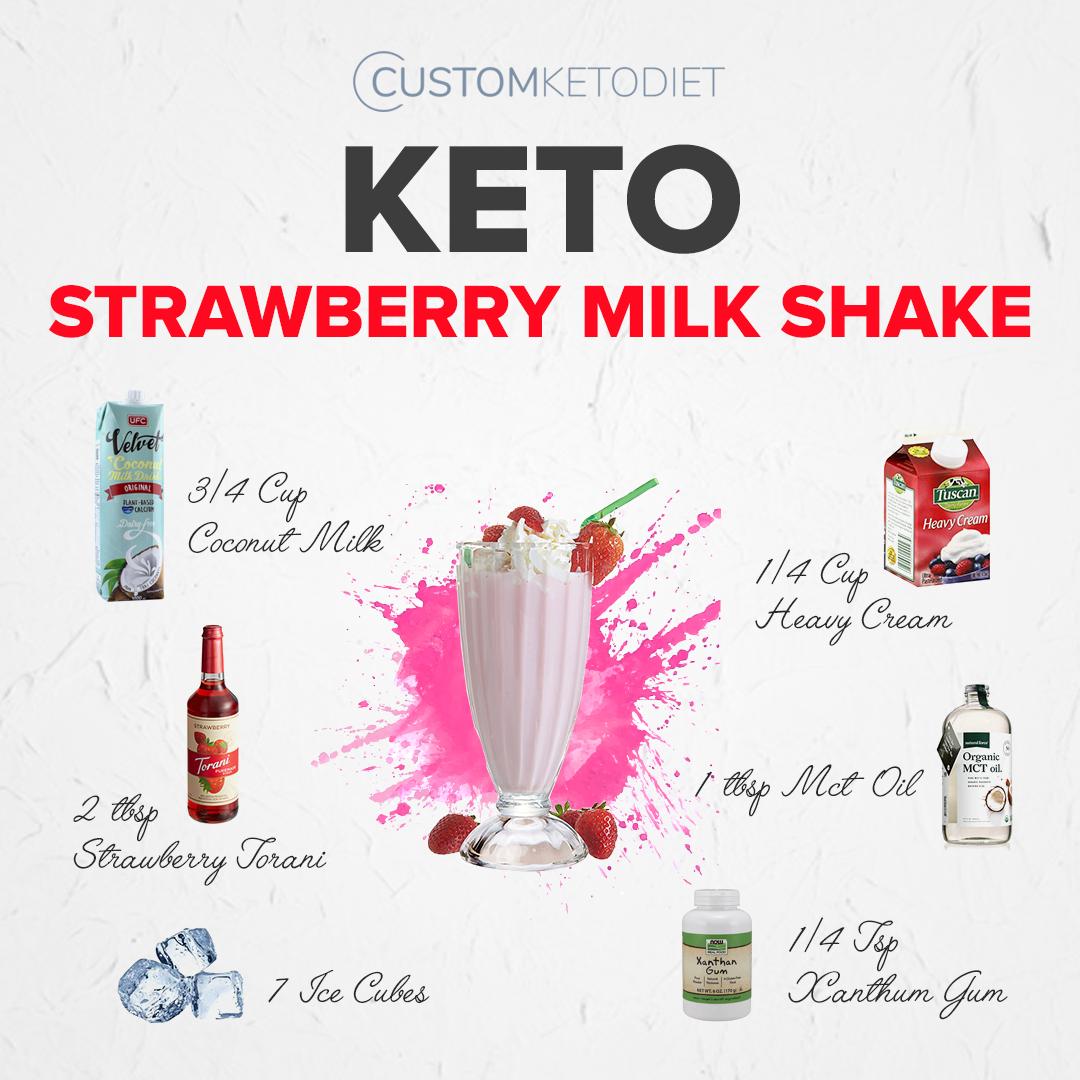 Keto Drinks: Keto Strawberry Milkshake Recipe