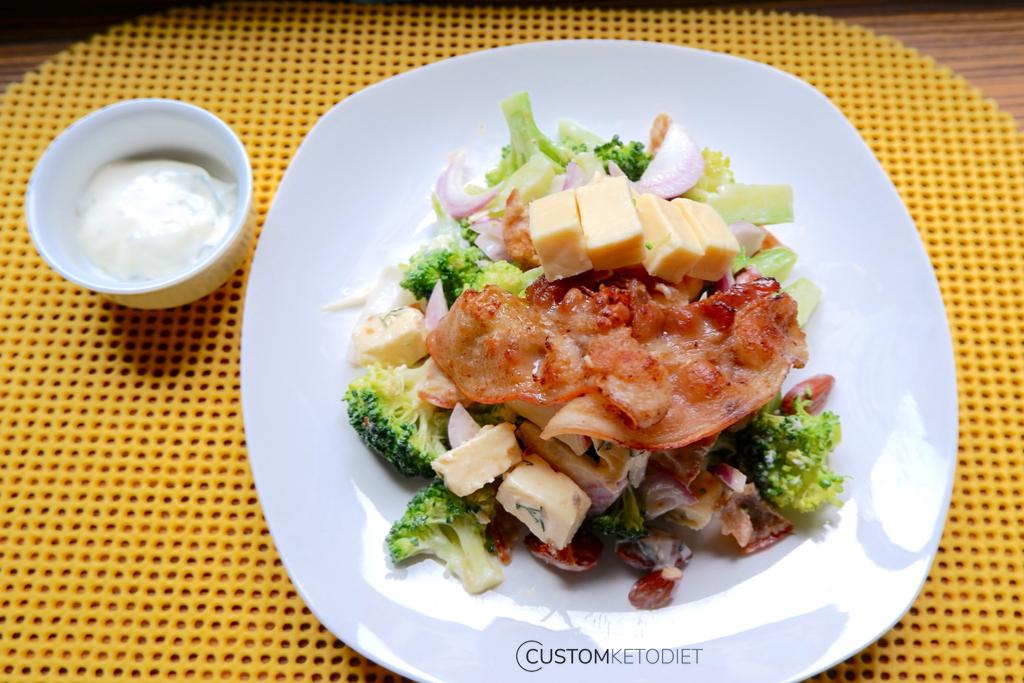 Keto Weight Loss Recipes: Keto Bacon and Broccoli Salad