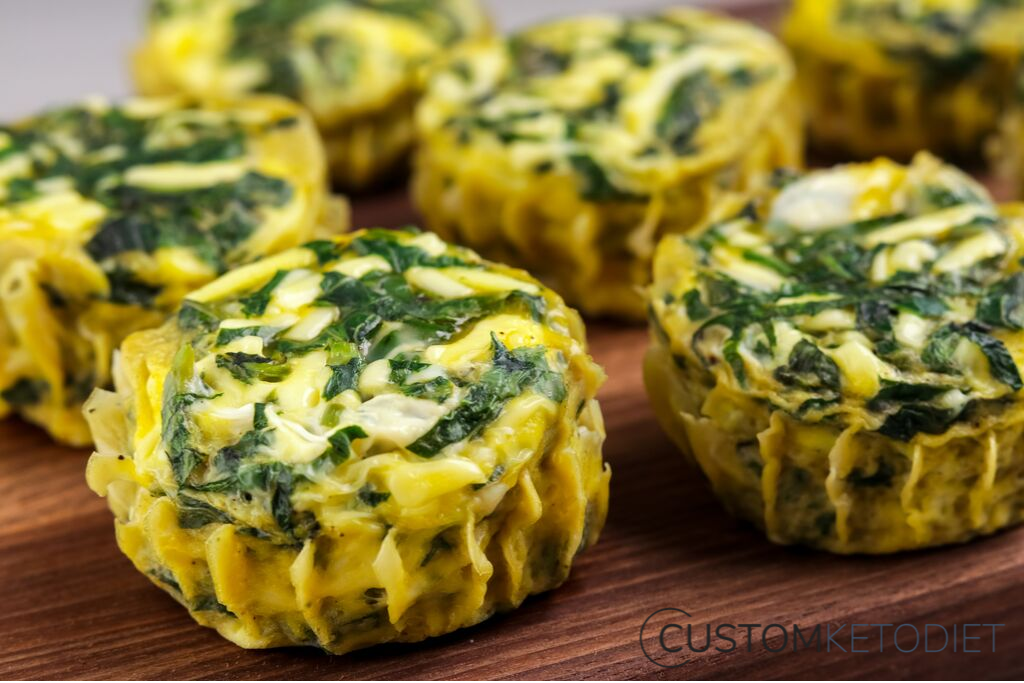 Keto Spinach and Cheese Egg Bites
